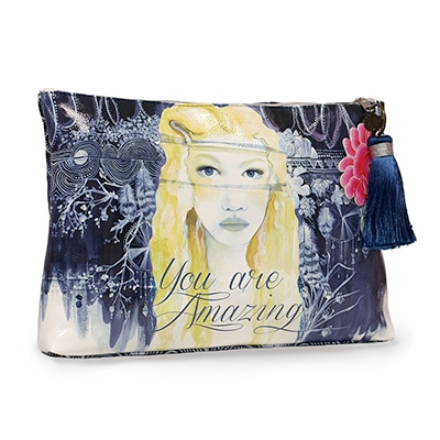 Papaya Art Accessory Pouch